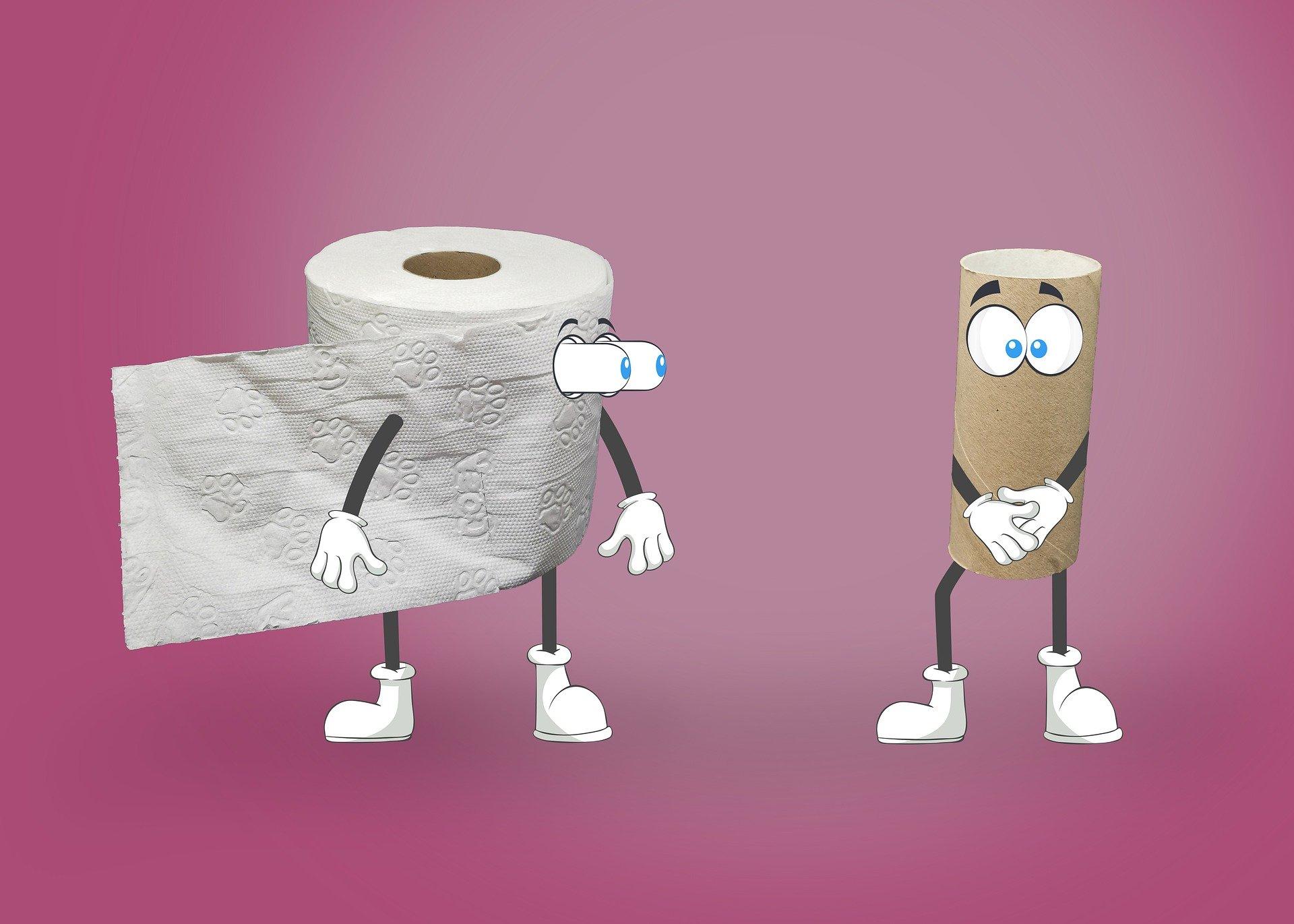 Kupiles wystarczajaco duzo papieru toaletowego