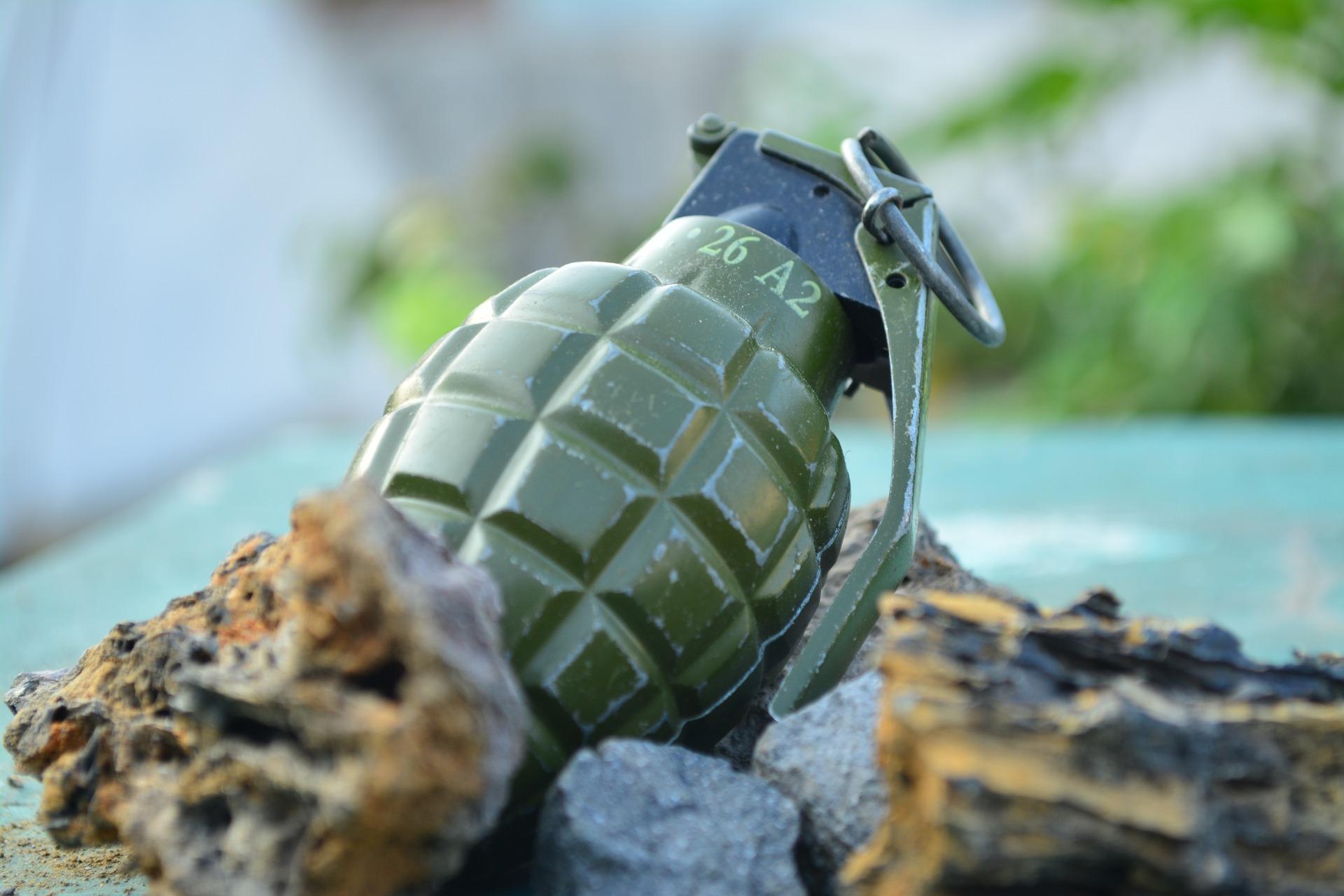 Znalazl granat i miny przeciwpiechotne